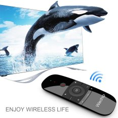 Wechip W1 2.4G Udara Mouse Wireless Keyboard Remote Control Inframerah Remote Learning 6-Axis Motion Sense W/ USB Receiver untuk Smart TV Android TV BOX Laptop PC-Intl