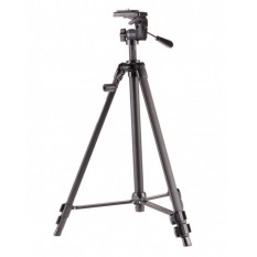 Weifeng Portable Lightweight Tripod Stand 3-Section Aluminum Legs - WT-330A - Silver
