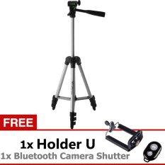 Weifeng Tefeng Tripod-3110A - Hitam + Gratis Holder-U + Bluetooth Camera Shutter