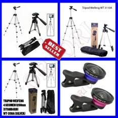 Weifeng Tripod Kamera Multiguna WT-3110a . Smartphone, Camera + Free U Holder + Free Lensa Super Wide 0,4x