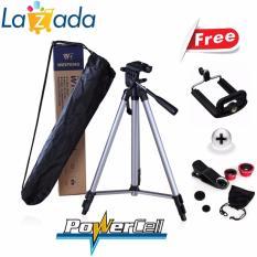 Weifeng Tripod WT-3110A For Kamera And Smartphone + Holder U + Fish Eye