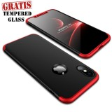 Beli Weika Armor Full Cover Hard Case For Iphone X Black Red Lengkap