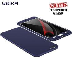 Weika Armor Full Cover Hard Case for VIVO V5/V5s/V5 Lite Blue Navy