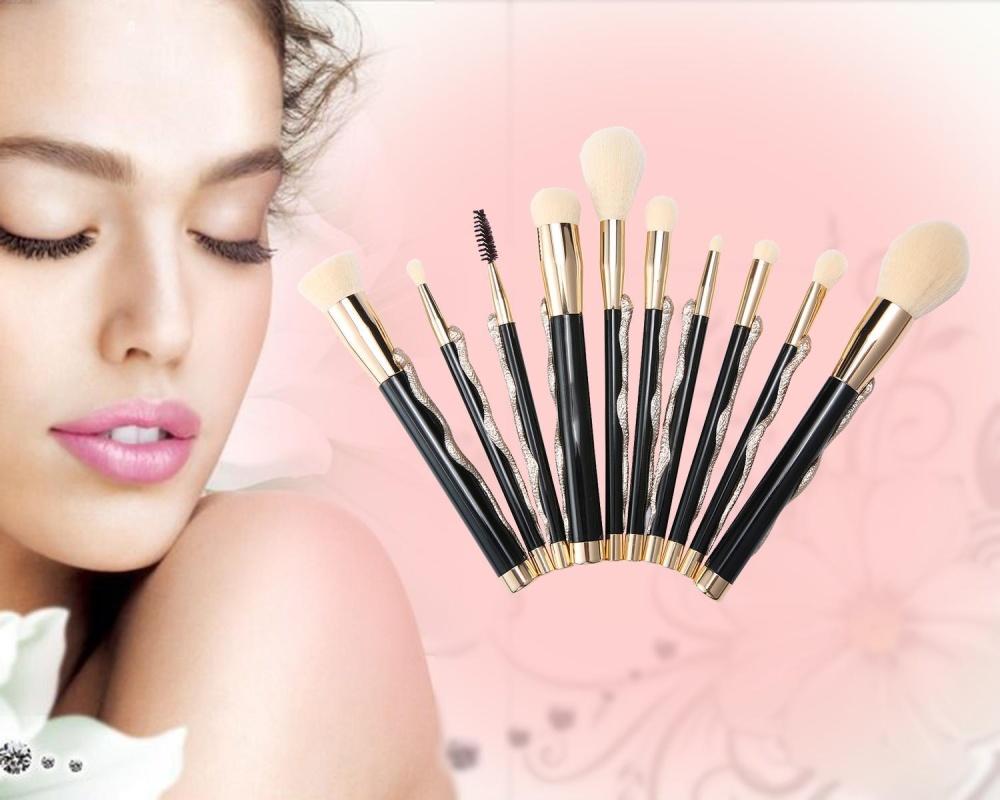Weizhe 10 Pcs Khusus Super Soft Makeup Brush Cosmetics Foundation Blending Brush Kuas Bedak Wajah-Intl