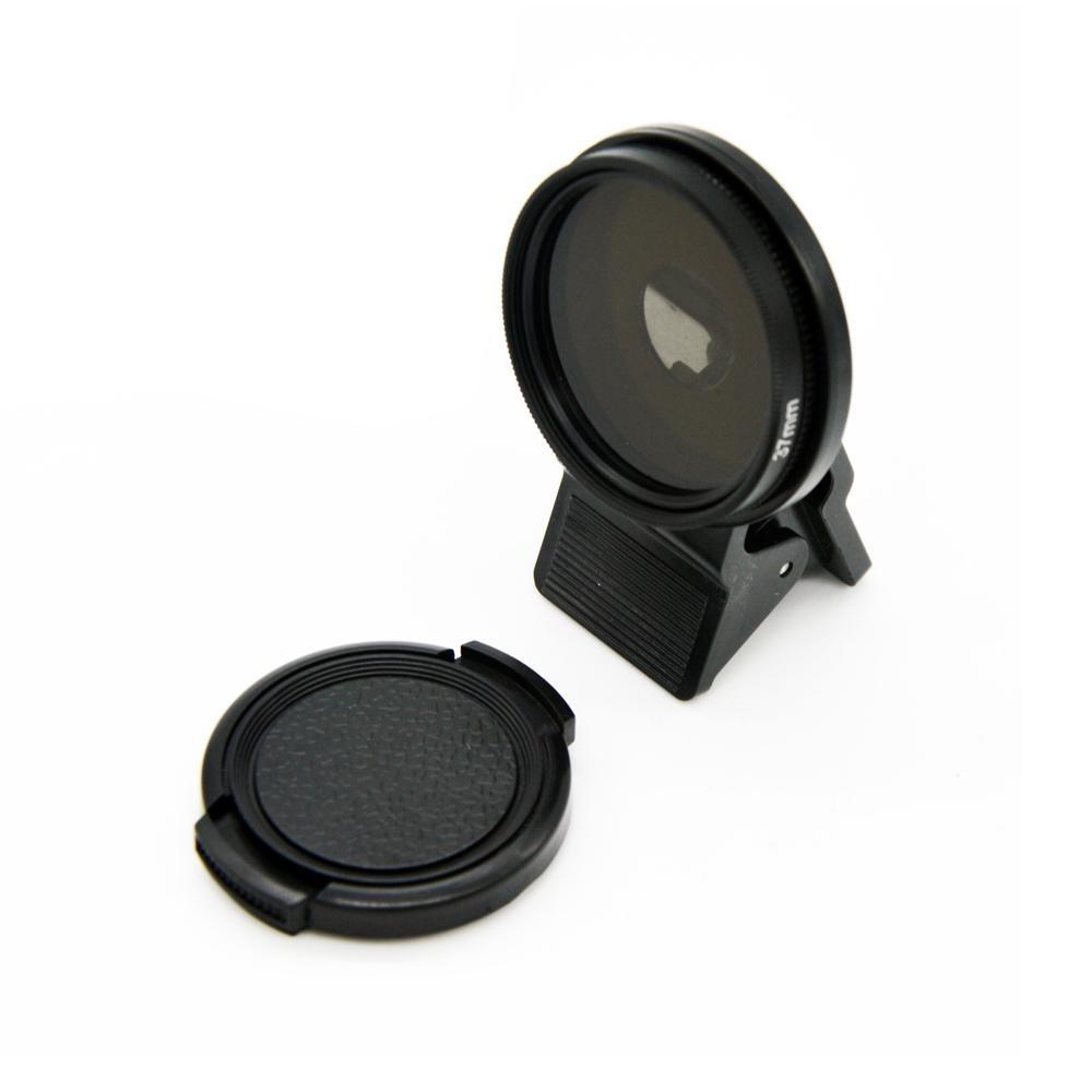 Weizhe IPhone Lens, 37mm Lensa Kamera Profesional Circular Polarizer Kit Klip Pada untuk IPhone 6/6 Plus/6 S/6 S Plus/5/5 S/4/4 S, IPad Air/Mini, Samsung Galaxy/Note, Sony Xperia (Hitam)-Intl