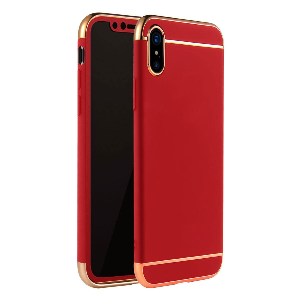Weizhe untuk IPhone X Case-Ultra Tipis Slim Anti-Gores Shockproof Protective DROP Hard PC Cover untuk Apple IPhone X (2017) -keemasan-Internasional