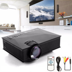 Welink Mini Projector UC46 Portable Multimedia Home Cinema Theater 1200 Lumens LED Projection with USB VGA HDMI SD Card AV WiFi for Party Home Entertainment 20000 Hours Led Life with Remote (Black) - intl