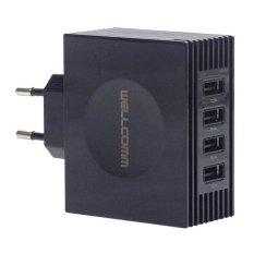 Wellcomm 4 Port Usb Charger 4 2A Ampere Hitam Wellcomm Diskon