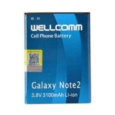 Wellcomm Baterai Samsung Galaxy Note 2- Blue