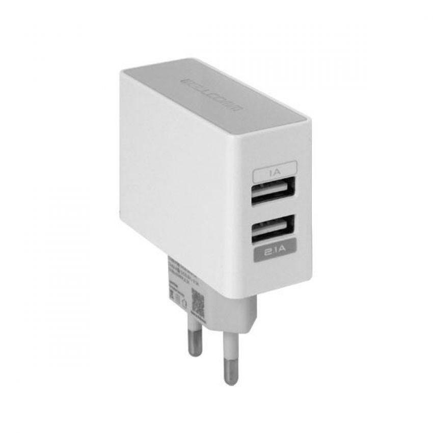 Beli Wellcomm Dual Usb Travel Charger 2 1A Putih Di Indonesia