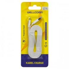 Berapa Harga Wellcomm Kabel Data Charger Micro Usb Flat 2M Original Wellcomm Di Indonesia