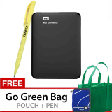 Jual Western Digital Elements 2 5 Inch 750Gb Hitam Gratis Go Green Bag Pouch Pen Branded