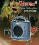Ulasan Lengkap Weston Speaker Portable Wireless Pa Amplifier Hdt 555 Usb Meeting Toa