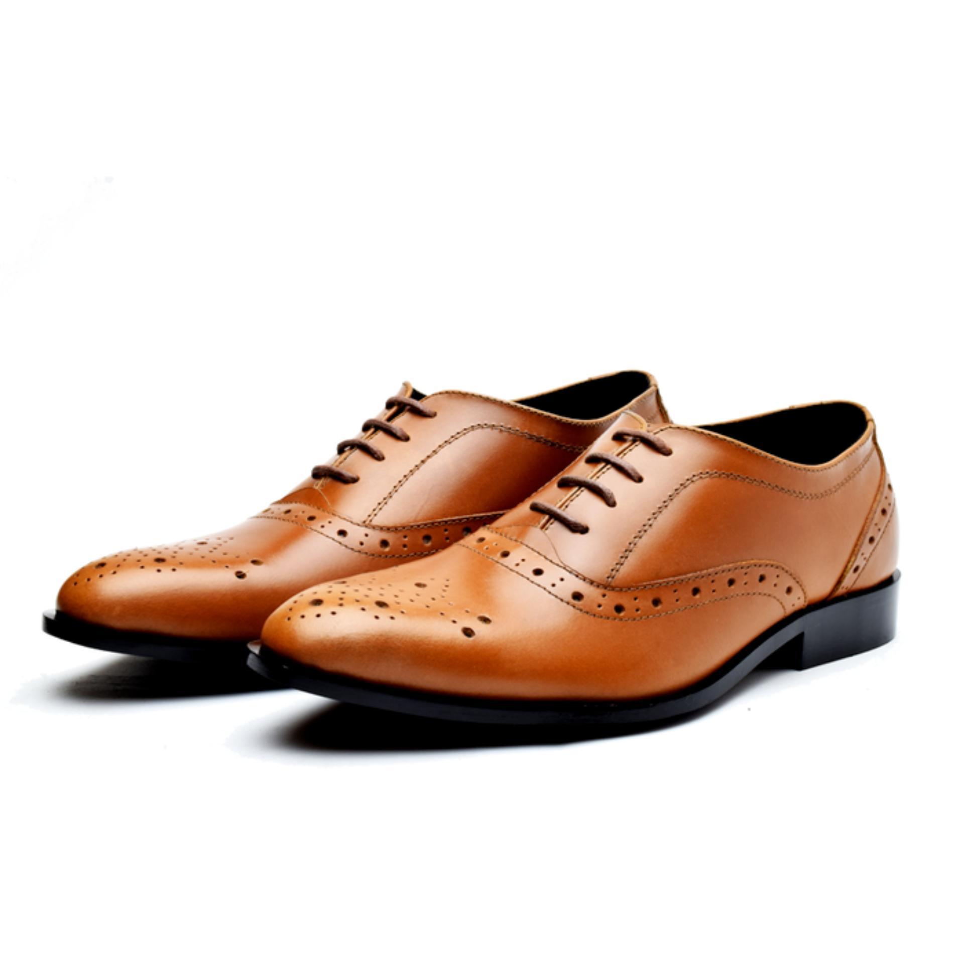 Harga Wetan Shoes Sepatu Pantofel Oxford Pria Bahan Kulit Coklat Tan Termahal