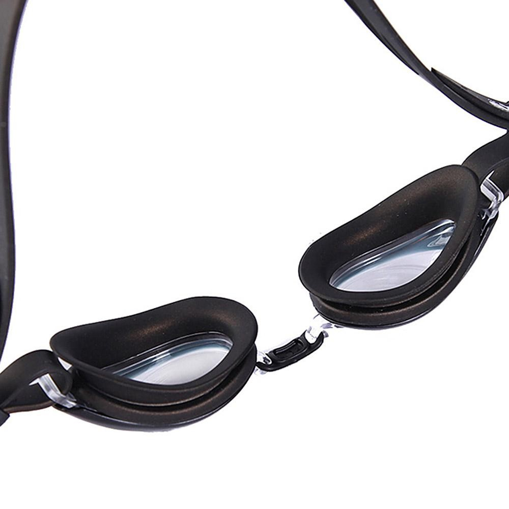 Ikan Paus Opt-6000 Kacamata Renang Anti-kabut UV Perlindungan Anti-Air Renang Kacamata untuk 6.0 Diopter-Hitam- internasional