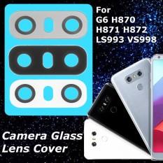 Putih Belakang Belakang Kaca Kamera Lensa Penutup Kaca untuk LG G6 H870 H871 H872 LS993 VS998-Intl