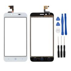 Putih Touch Digitizer Layar Kaca untuk ZTE Blade L4 A460 L4 PRO Depan Panel Sentuh Pengganti dengan Stiker + Perbaikan Alat-Intl