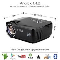 Grosir-Proyektor AM01P LED Proyektor Built-In Android 4.4 DLANWIFI Bluetooth Miracast Airplay EZCast Multilanguage MINI Berseri-seri-Internasional