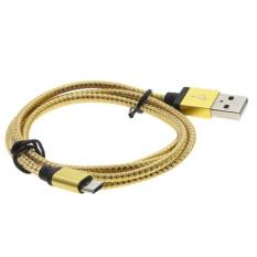 Whyus 1 M Kabel Tembaga Micro USB Data Sync Pengisian Universal CableFor Samsung HT Cfor LG (Emas)-Intl