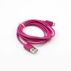 Whyus 2 M USB Sync Data Charger Mengisi Kabel Kabel untuk Samsung Galaxy Nokia Lumia HTC (Peach)-Intl