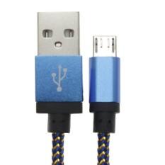 Whyus 3 M Kabel Tembaga Micro USB Data Sync Pengisian Universal CableFor Samsung HT Cfor LG (Biru)-Intl