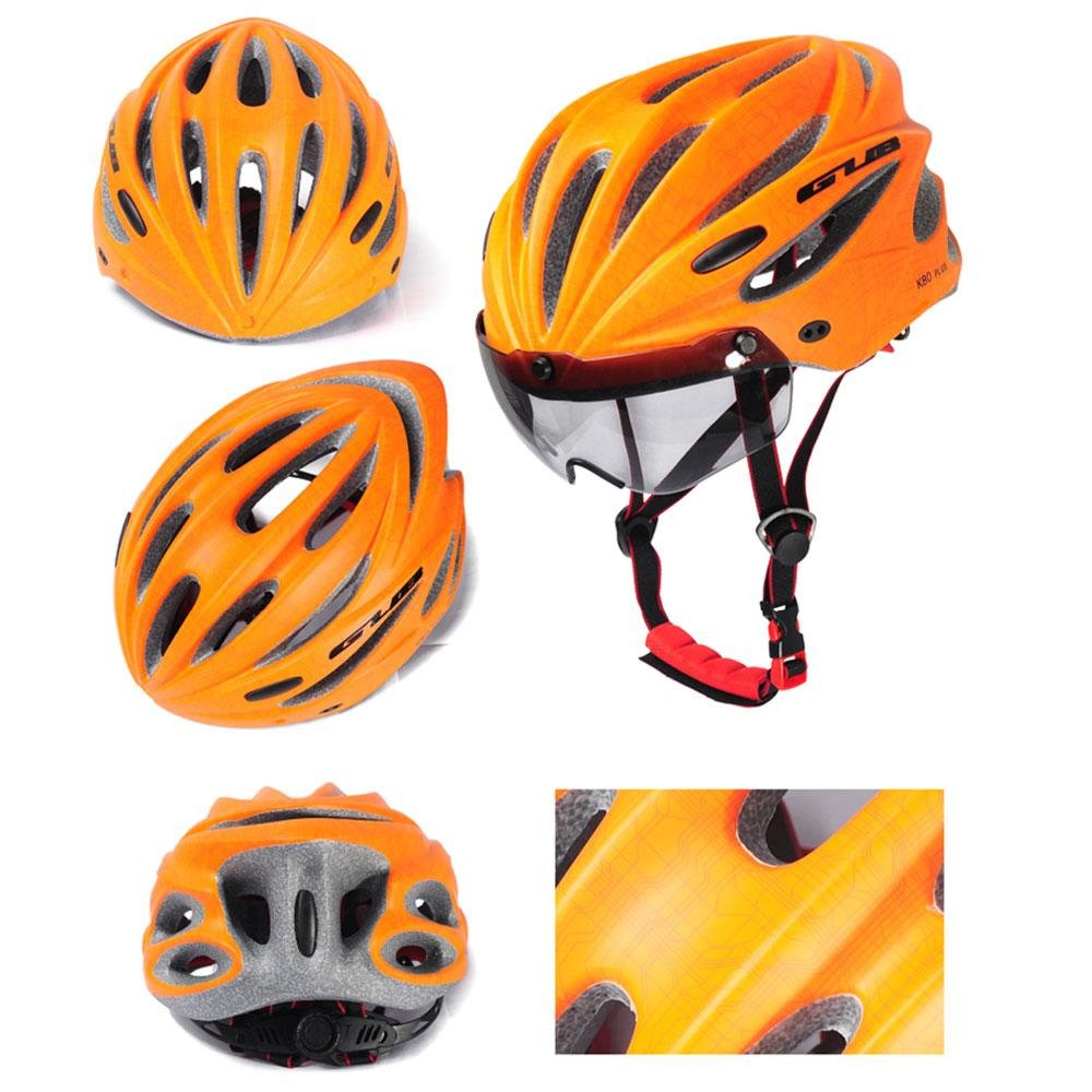 Harga Termurah Whyus Durable Gub Plus Cycling Bicycle *d*lt Safety Road Bike Helmet Head Protector With Visor Orange Intl