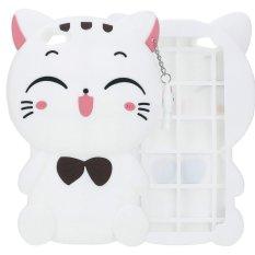 Whyus Baru Tahan Lama 3D Yang Indah Manis Tersenyum Bahagia Kucing Silikon Lembut Sarung Pelindung Kulit untuk Vivo X7 Plus Putih