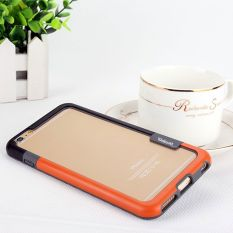 Whyus Menyimpan 2 PC Lembut TPU & Bumper Plastik Bingkai Tepian Case Cover untuk Apple iPhone 6/6 S Plus 5.5 (Orange & Hitam)