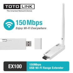Totolink Ex100 - Wifi Extender Usb 150mbps By Totolink Technology Indonesia.