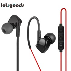 Wired 3.5mm Plug Stereo Woofer On-Cable Control In-Ear Sports Earphone Headset - intl