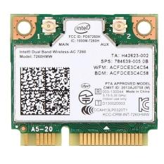 Wireless-AC 7260 7260HMW 802.11AC Dual Band BT4.0 PCIe Half Mini Wifi Card FOR Intel