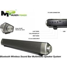 Nirkabel Bluetooth 3.0 Portable Stereo 10 W Multimedia Speaker System-Untuk Home Theater, Golf, Pantai, Shower-dengan 3.5mm AUX Input TF Card Reader, Indikator LED dan Treble Built-In Mikrofon (Hitam) -Intl