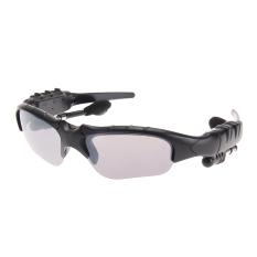 Nirkabel Bluetooth 4.0 Kacamata Hitam Stereo Handsfree Alat Pendengar Musik (Hitam)