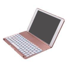 Bluetooth nirkabel 7warnd cahaya Smart Keyboard dengan pelapis pelindung jual pelindung untuk Apple iPad Pro 9,7 inci mawar emas - International