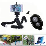 Harga Nirkabel Bluetooth Remote Rana Tombol Gurita Selfie Dudukan Tripod Fleksibel For Smartphone And Kamera Hitam International Murah