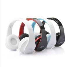 Wireless Bluetooth Second Earphone Headset PC Universal Folding Stereo Headset (Black)(Color:Black)(Size:US:) - intl