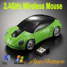 Wireless Car Mouse Mini Led Optical Mice 2.4Ghz 1600DPI 10m Colorful USB PORSCHE Car Shape Mouse PC Laptop Notebook di lapak AppShoppe appshoppe