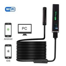 Endoskopi Mobile, kamera Inspeksi WIFI/1200 P HD Definisi Tinggi/8 Adjustable LED/8 Mm Kaliber 5 M Kabel, untuk Android dan IOS Ponsel Pintar iPhone Samsung Pada Tablet (Tahan Air IP68)-Intl