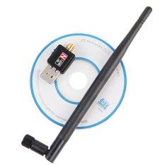 Wireless WiFi Adapter 5dB Wifi Antenna 150Mbps Lan Wireless Network Card Portable USB WiFi Receiver Adaptador WiFi 802.11b/g/n - intl