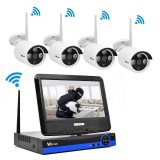 Spesifikasi Wistino 1080P Cctv System Kit Wireless Hisilicon 4Ch Security Ip Camera Wifi Outdoor Nvr P2P Monitor Kits Ir Lcd Screen Surveillance Cam Intl Merk Wistino