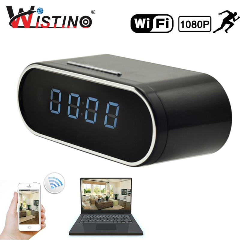Wistino 1080P Wifi Clock Camera Nanny Wireless Camera P2P Ip Security Support Ios Android Motion Detection Home Security Camera Intl Wistino Murah Di Tiongkok