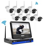 Spesifikasi Wistino 1080P Wifi Kit Cctv System Wireless Hisilicon 8Ch Nvr Security Ip Camera Outdoor P2P Monitor Kits Ir Lcd Screen Surveillance Cam Intl Wistino Terbaru