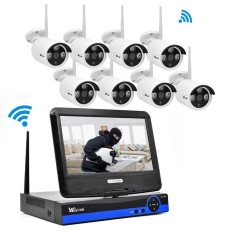 Jual Wistino 1080P Wifi Kit Cctv System Wireless Hisilicon 8Ch Nvr Security Ip Camera Outdoor P2P Monitor Kits Ir Lcd Screen Surveillance Cam Intl Branded Original