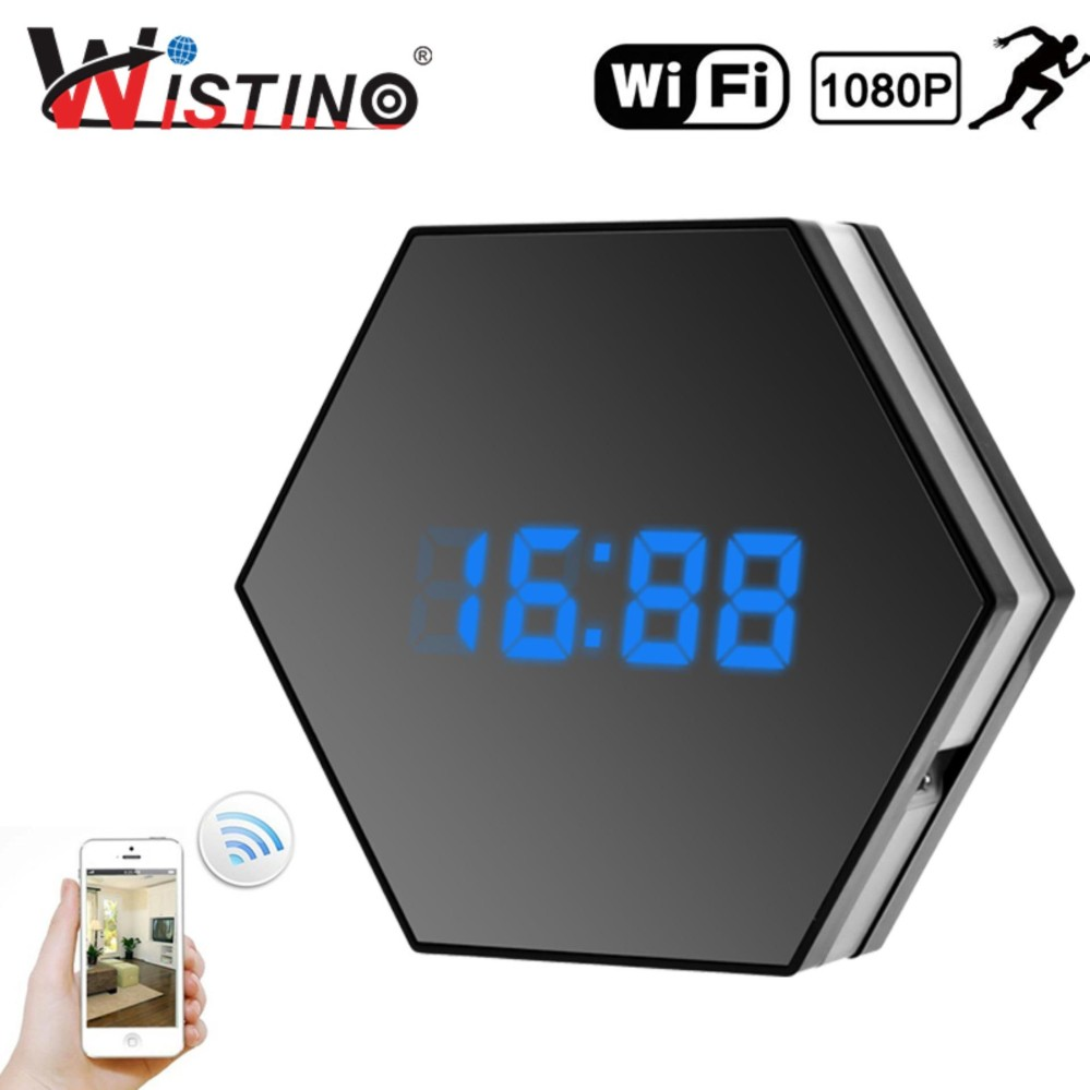 Harga Wistino 1080P Wifi Mini Clock Camera Time Alarm Wireless Nanny Ip Camera Cctv Home Security Clock P2P Night Vision Motion Detection Intl Di Tiongkok