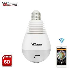 Beli Wistino 1 3 Megapixels 360 Degree Fisheye Panoramic Network Wireless Camera Led Bulb Smart Home Security Camera Intl