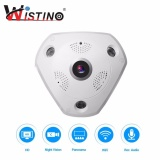 Harga Wistino 3 Megapixel Wireless 360 Degree Fisheye Panoramic Ip Camera Wifi Home Security Surveillance Camera Super Wide Angle Support Night Vision Motion Detection Yang Murah