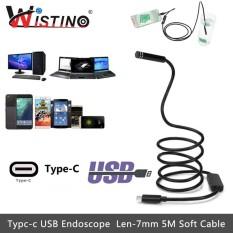 Spesifikasi Wistino 7Mm Mini Endoscope Camera Android Type C Usb 5M Soft Cable Waterproof Type C Inspection Surveillance Intl Baru