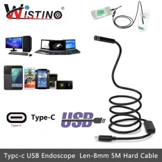 Toko Wistino 8Mm Mini Endoscope Camera Android Type C Usb 5M Hard Snake Cable Waterproof Type C Inspection Surveillance Intl Online Di Tiongkok