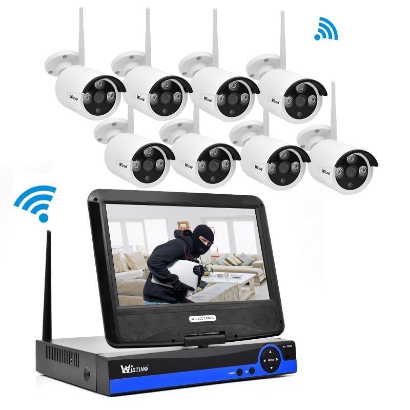 Harga Wistino 960 P Ip Kamera Wifi Kit Cctv Sistem Nirkabel 8Ch Nvr Keamanan Luar P2P Monitor Kit Ir Lcd Layar Surveillance Cam Intl Wistino Terbaik
