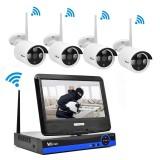 Harga Wistino 960 P Cctv Sistem Kit Nirkabel 4Ch Nvr Keamanan Ip Kamera Wifi Outdoor P2P Monitor Kit Ir Lcd Layar Surveillance Cam Intl Yg Bagus